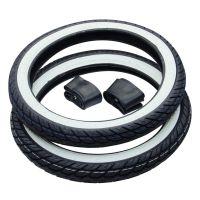 2x Weißwand Reifen Kenda K418 Street 2 3/4 x 17 + Schlauch Kreidler Florett RS (1666152)