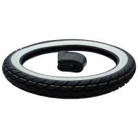 Weißwand Reifen Kenda K418 Street 2 3/4 x 17 + Schlauch Kreidler Florett RS RMC (166615)