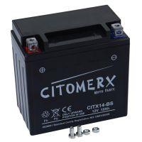Gel-Batterie CITX14-BS, 12V 12Ah +Pol links, YTX14-BS DIN 51214LF (160893)