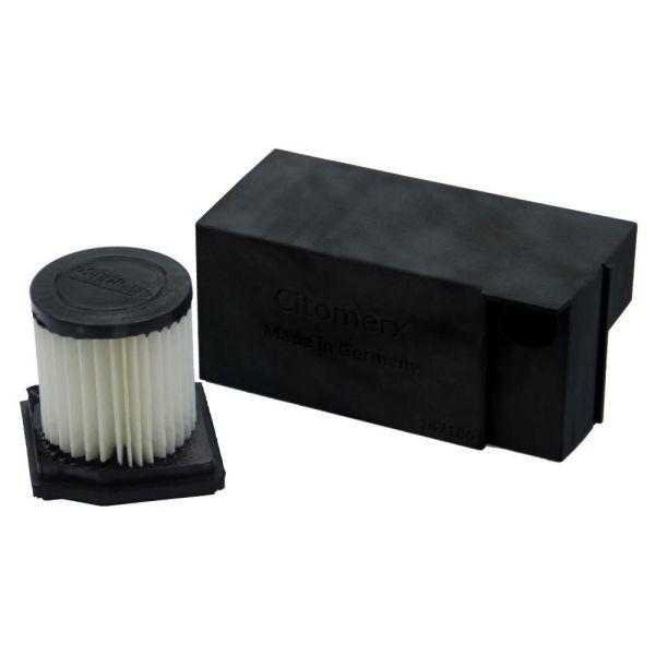 Black Tuning Set Luftfilterkasten 16mm + Filter 22mm Hercules P1 P3 C1 Citybike Tuning Prima Sachs 504 505 A C (167192)