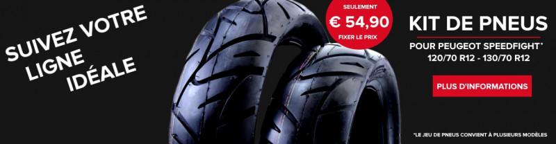 Kit de pneus - Suivez votre ligne idéale