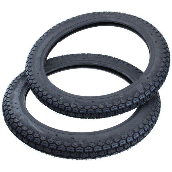 tuyau set 2 3//4 x17 46j Vélomoteur MOBYLETTE pneus