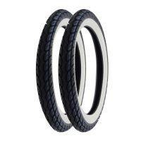 2x Weißwand Reifen Kenda K418 2 3/4 x 17 Street 2.75-17 41P Kreidler Florett RS (1666142)