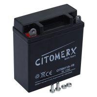 Gel-Batterie CIT6N11A-1B, 6V 11 Ah +Pol links, 6N11A-1B DIN 01214 (160830)